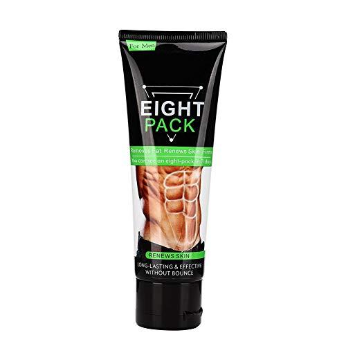 Bauchfettverbrennungscreme, Weste Line Display, straffer Muskel, zeigt Weste Line Enhancer Exercise Coconut Body Cream 80g - A-line Weste