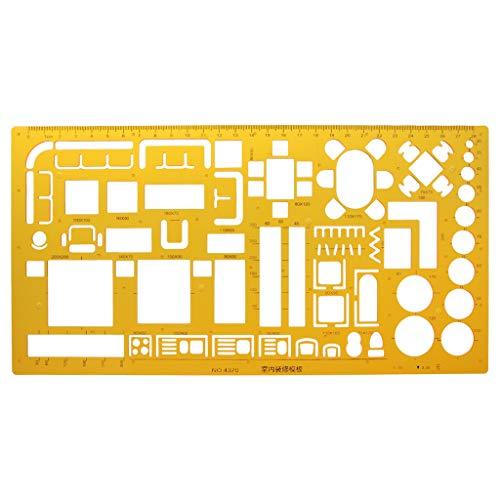 Nysunshine Innendekorator Schablone Lineal, Designmöbel-Layout architektonische Zeichnung
