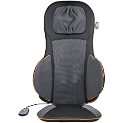 Medisana MC825 Respaldo Masajeador Espalda Shiatsu y Acupresión, Masaje independiente Espalda (3 modos) + Cuello + Asiento + Cintura , Cabezal Ajustable, Calor por Infrarrojos