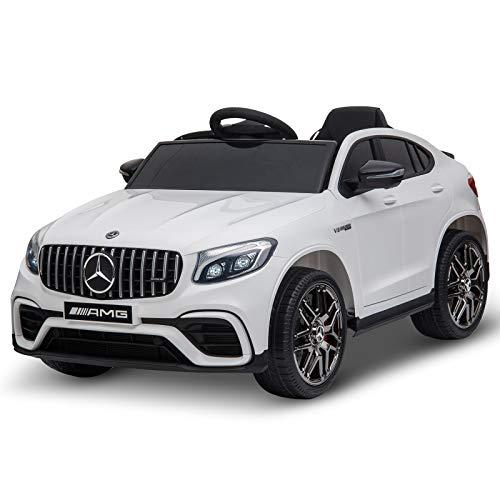 Homcom Voiture véhicule électrique Enfants 12 V 35 W V. Max. 3 Km/h télécommande Effets sonores...