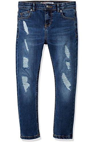 RED WAGON Jeans Mädchen in Distressed-Optik, Blau (Multi), 104 (Herstellergröße: 4 Jahre)