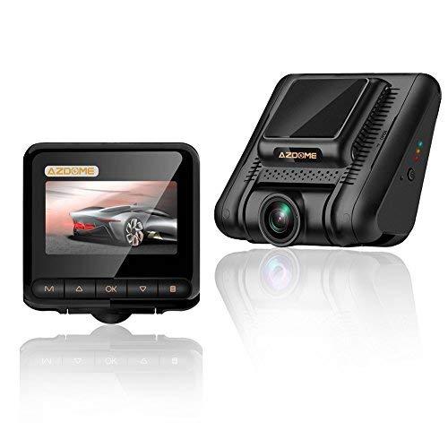 AZDOME 1080P Dashcam mit 170° Weitwinkelobjektiv, Zeitraffer, Super Nachtsicht, Loop-Aufnahme, G-Sensor, Parkmonitor, Bewegungserkennung Autokamera KFZ Kamra(M02)