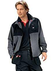 Lee Cooper Workwear Polar - Chaqueta para hombre, color black/black, talla M