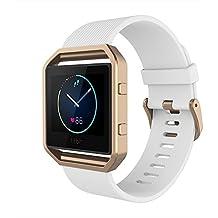 Fitbit Blaze Bracelet, Simpeak Silicone Remplacement Bande avec Cadre Noir Etui pour Fit bit Blaze Smart Fitness Watch
