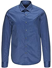 SELECTED HOMME Herren Businesshemd Slim Fit 16016584 One Pelle Santiago Classic blue