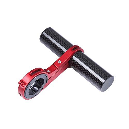 lujiaoshout Fahrradlenker Extender Fahrrad Verlängerung Rackrahmen Carbon-Faser-Halterung Halter Halterung für Taschenlampe Lampe Telefon - Rot (Fahrrad-computer Mit Extender)