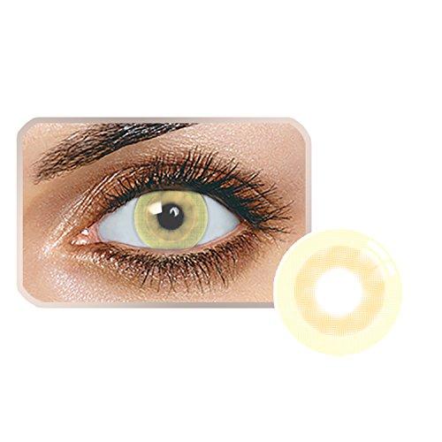 Farben Kakao (Edited Farbige Kontaktlinsen 1 Paar (2 Stück) Ohne Stärk - Jahreslinsen - Durchmesser: 14.20mm - Verschiedene Farben - Krümmungsradius: 8.60° - Wassergehalt: 38% - Angenehm zu Tragen (Kakao))