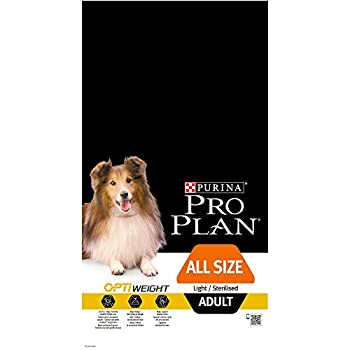 Pro Plan All Sizes Adult Light/Sterilised avec Optiweight Riche en Poulet - 7 KG - Croquettes pour Chiens Adultes