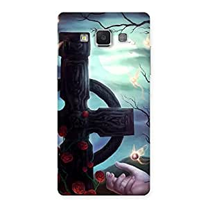 Cute Crossed Circle Multicolor Back Case Cover for Samsung Galaxy A5