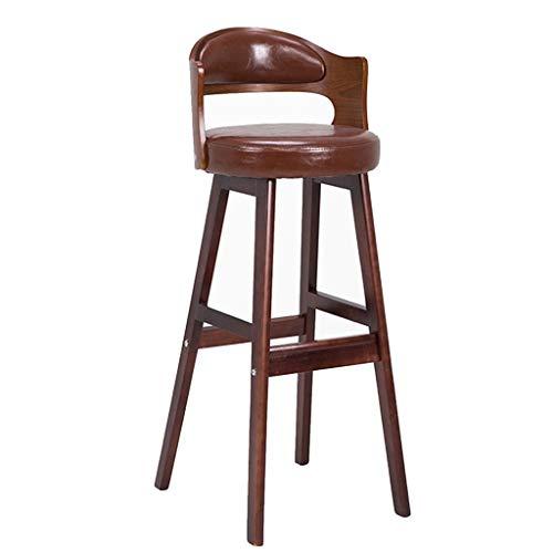 Creative Barhocker, Massivholz Barhocker Modern Simple Continental Barhocker Rückenlehne Hoher Hocker Kann Gedreht Werden, Einfach HENGXIAO (Color : #1) - Moderne Hohe Rückenlehne, Barhocker