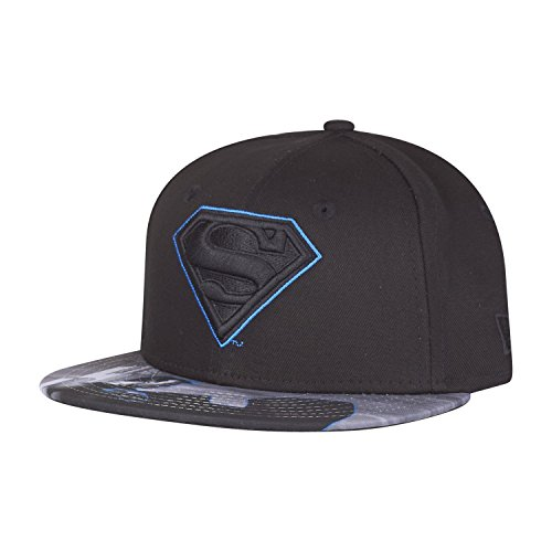 New Era Character Outline Superman 9fifty 950 Youth Snapback Cap DC Comics Kids Kinder Children, Black