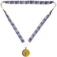 Australia vincitori di medaglie - Medaglia d'oro metallico, insieme con la bandiera dell'Australia (MI3)