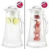 bremermann Kühlkaraffe, Wasserkaraffe 2,4 Liter mit Kühl- und Aromastab (weiß) - 5
