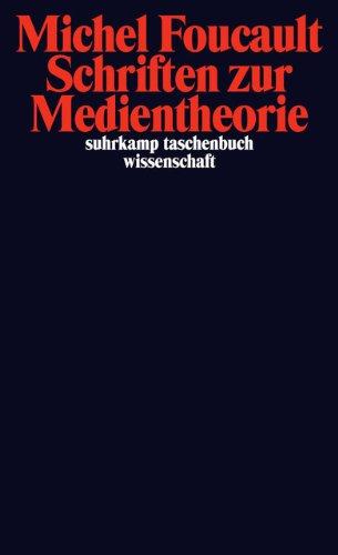 Schriften zur Medientheorie (suhrkamp taschenbuch wissenschaft)