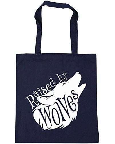 hippowarehouse-raised-by-wolves-tote-compras-bolsa-de-playa-42-cm-x38-cm-10-litros-azul-marino-azul-