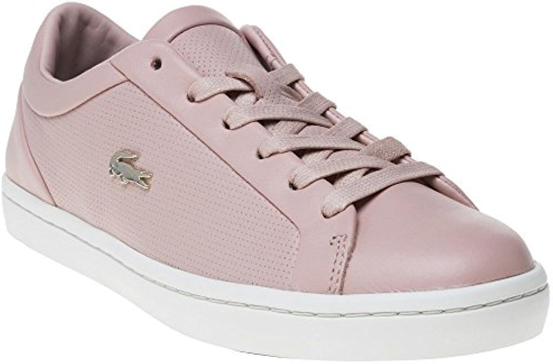 Lacoste Straightset Damen Sneaker Pink 2018 Letztes Modell  Mode Schuhe Billig Online-Verkauf