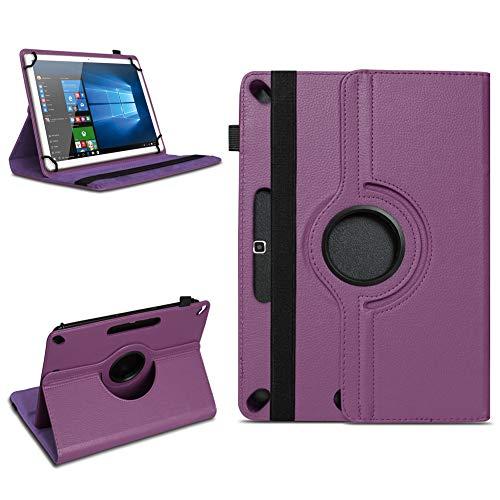 Tablet Tasche für 10 - 10.1 Zoll Hülle Schutzhülle Case Cover 360° Drehbar Neu, Farben:Lila, Modell:Acepad A96