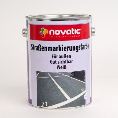 Original NOVATIC Marken Straßenmarkierungsfarbe - 2,5 l reinweiß