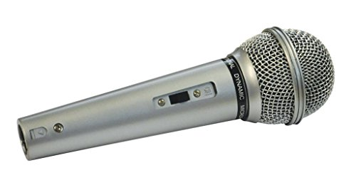 Mr Entertainer-Microfono Mr Entertainer con corpo in plastica, Interruttore e Cavo XLR-XLR, 3m