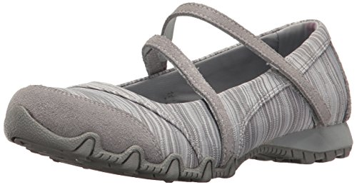 Skechers Bikers 49343-GRY Damen Slipper Sportiv Textil Grau (Grey), 39 EU