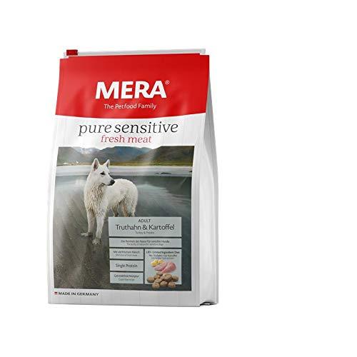 MERA pure sensitive fresh meat Adult Truthahn und Kartoffel Hundefutter – Trockenfutter für Hunde mit einer Rezeptur ohne Getreide und 25{6356a4ffd35d37e358d7c96a6367f381137d255f33850efe37c0c6ed4aed4fde} Frischfleisch