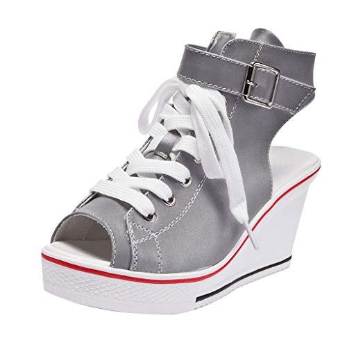 EERTX - ☀Damen Sommer Keil beiläufige Schuh☀/Frauen Stiefel Palladium Style Fashion High-top Militär Ankle Schuhe Mode (Militär Kostüm Diy)