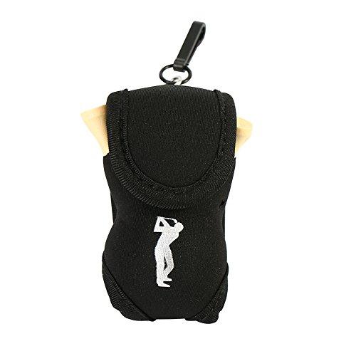 Dioche Golfball Beutel, Beweglicher Golfball Halter Halten Sie 2 Bälle und 4 Golf Tee(Schwarz)
