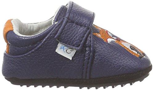 Rose & Chocolat Fox Navy, Chaussures de Naissance Mixte Bébé bleu (Navy)
