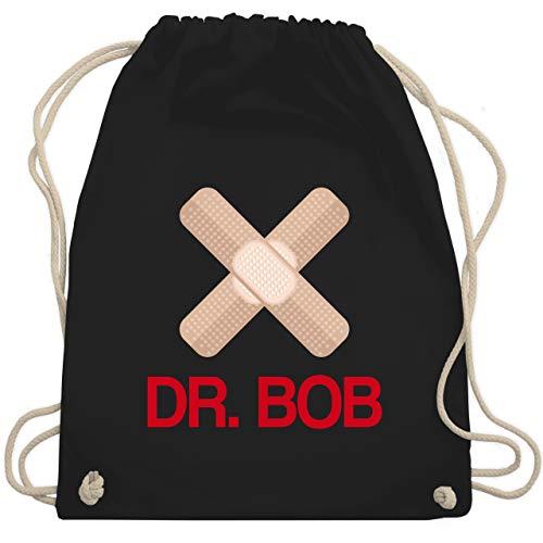 Bob Kostüm Schwarzen - Karneval & Fasching - Dr. Bob Kostüm Pflaster - Unisize - Schwarz - WM110 - Turnbeutel & Gym Bag