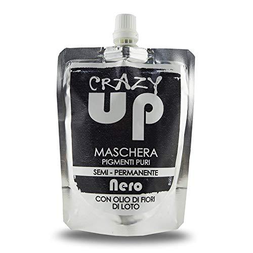 Crazy up maschera colorante semipermanente per capelli - nero - 200 ml