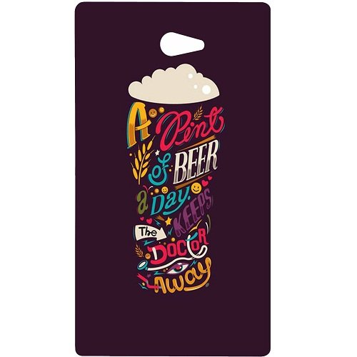 Casotec Pint Of Beer Print Design Hard Back Case Cover for Sony Xperia M2  available at amazon for Rs.149
