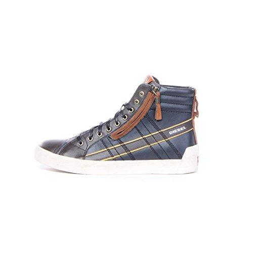 DIESEL - Baskets basses - Homme - Baskets hautes bicolores marron D-String Plus pour homme Bungee Cord / Noir