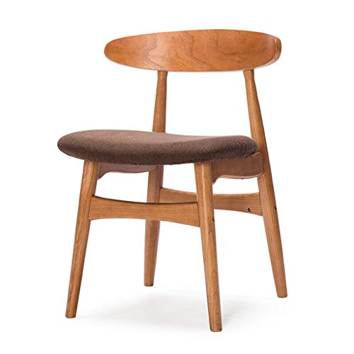 Rollsnownow Brown Coussin Chaise À Manger Chaise Dossier En Bois Massif Chaise De Bureau Bureau Et Chaise Café Tables Et Chaises Rétro (Color : Red rubber color)