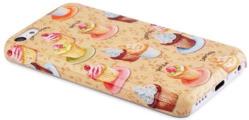 JAMMYLIZARD   Zuckersüße Cupcakes Back Cover Hülle für iPhone 5C, SCHOKO-MINT SÜßE CUPCAKES