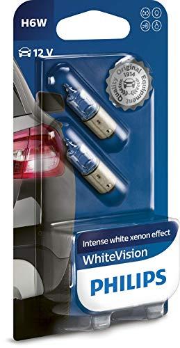 Philips WhiteVision Xenon-Effekt H6W Autolampe 12036WHVB2, Doppelblister