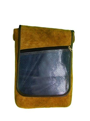 QRAFTINK GENUINE Original Split Leather Messenger Bag Hand Bag Laptop Bag For Boys Girls Men's For Casual And...