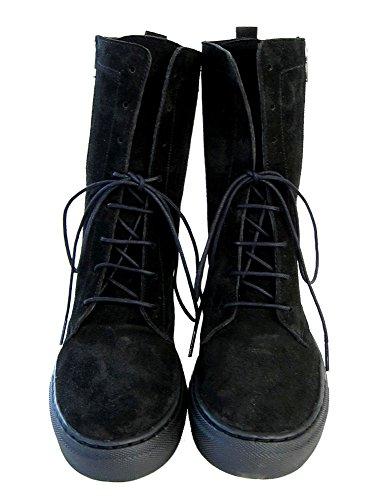 Quui  Kamet,  Damen Combat Boots Schwarz