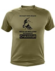 """Tee-shirt orange chasse """"On nait tous égaux"""" Bécasse"""