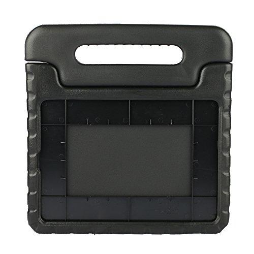 Preisvergleich Produktbild Kinder Hülle für iPad Air 2, CAM-ULATA EVA Stoßfest Leichtgewicht Kinderfreundlich Griff Schutzhülle Standhülle Für iPad Air 2 9.7 Zoll 2014 Veröffentlicht Tablette, Schwarz