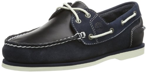 Timberland Damen Classic Boat Mokassins,Blau (Blue), EU 37,5 (US 6,5) (Deck Timberland Shoes)