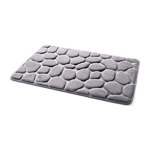 Coral Fleece antideslizante alfombrillas de baño cuarto de baño patrón de suelo alfombra marrón