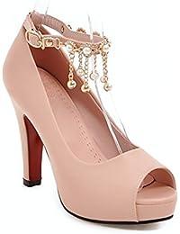 Fein mit weiblichen Schuhe, Fisch Mund mit feinen, mit weiblichen Sandalen, schwarz, 33