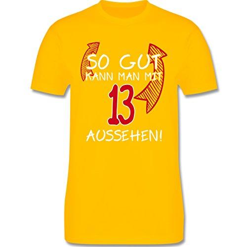 Geburtstag - So gut kann man mit 13 aussehen - Herren Premium T-Shirt Gelb