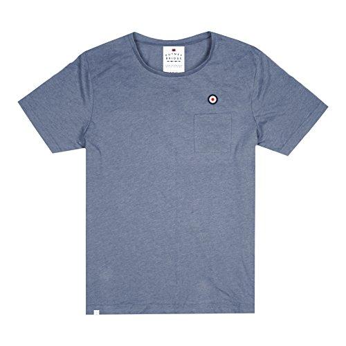 Putney Bridge (Putney Bridge Herren Target Pocket T-Shirt, Blau (Washed Denim WSD), L)