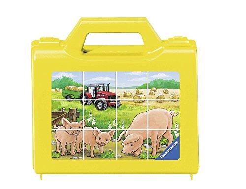 Ravensburger - 07471 6 - Cubi da 12 Pezzi - Animali della Fattoria