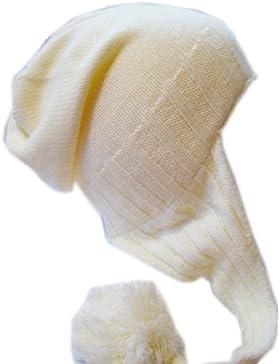 Frost Cappelli m-162Cappello invernale per ragazze Pompon Paraorecchie Cappello caldo pile berretto slouchy Frost...