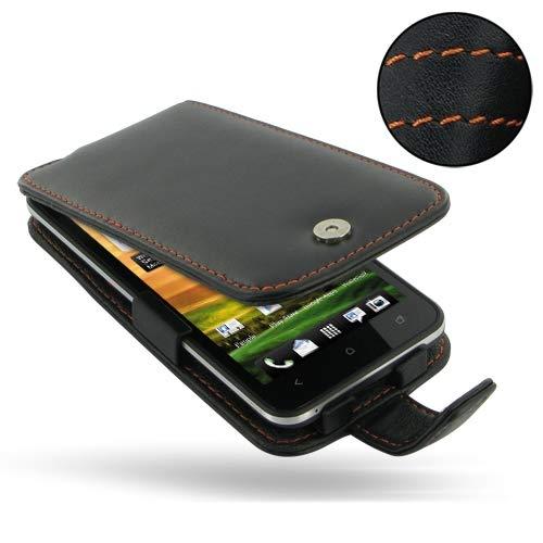 PDair Handarbeit Leder Flip Hülle for HTC EVO 4G LTE (Orange Stitch) (Otter Box Htc Lte)