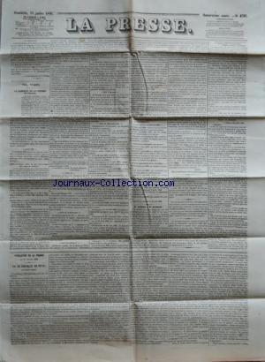 PRESSE (LA) [No 4763] du 15/07/1849