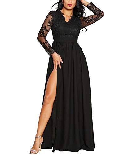 RUNYA Damen Sommerkleider Frauen Sexy Tiefer V-Ausschnitt Partykleid Sling Slim Unregelmäßig Wickelkleid Cocktailkleid