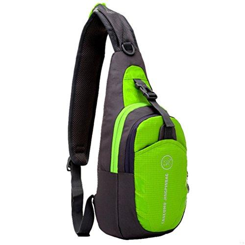 GADIEMENSS Waterproof Lightweigh Breathable Chest Bag Sling Shoulder Backpack Apple Green